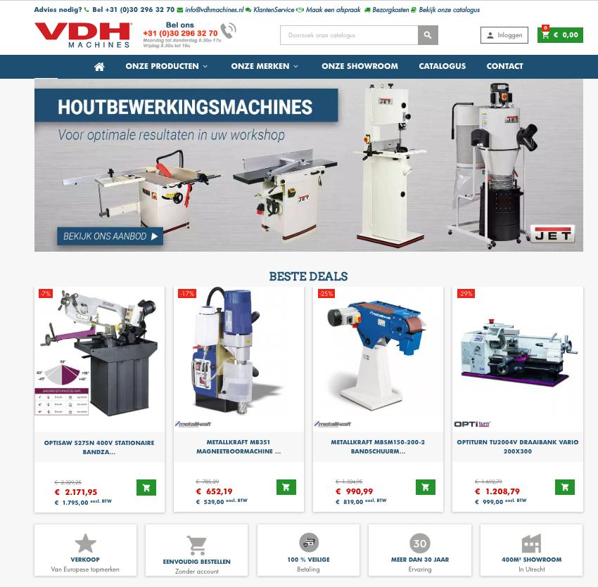 VDH webshop - vdhmachines.nl